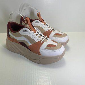 Zara Platform Tan/White/Maroon 5409/001/202